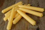 "5"" Hand Dipped Beeswax Tapers"