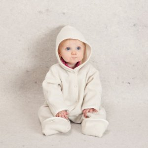 Lanacare Organic Wool Baby Suit with Hood