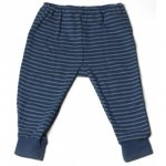 Hocosa Organic Merino Baby Pants Red or Blue Stripes